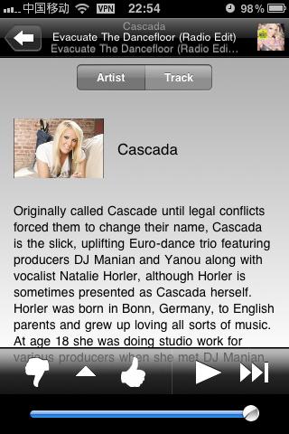 Pandora:美国流行的音乐电台