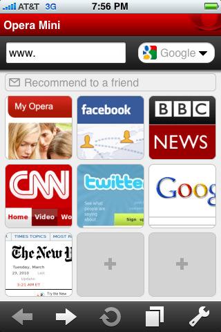 Opera Mini:移动浏览器