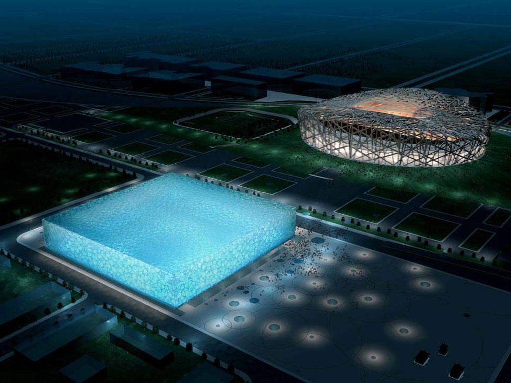 北京国家游泳中心--水立方-谷歌地图观察