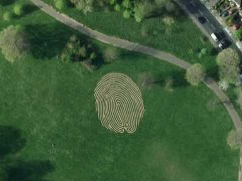 Google Earth上的世界上最大的指纹