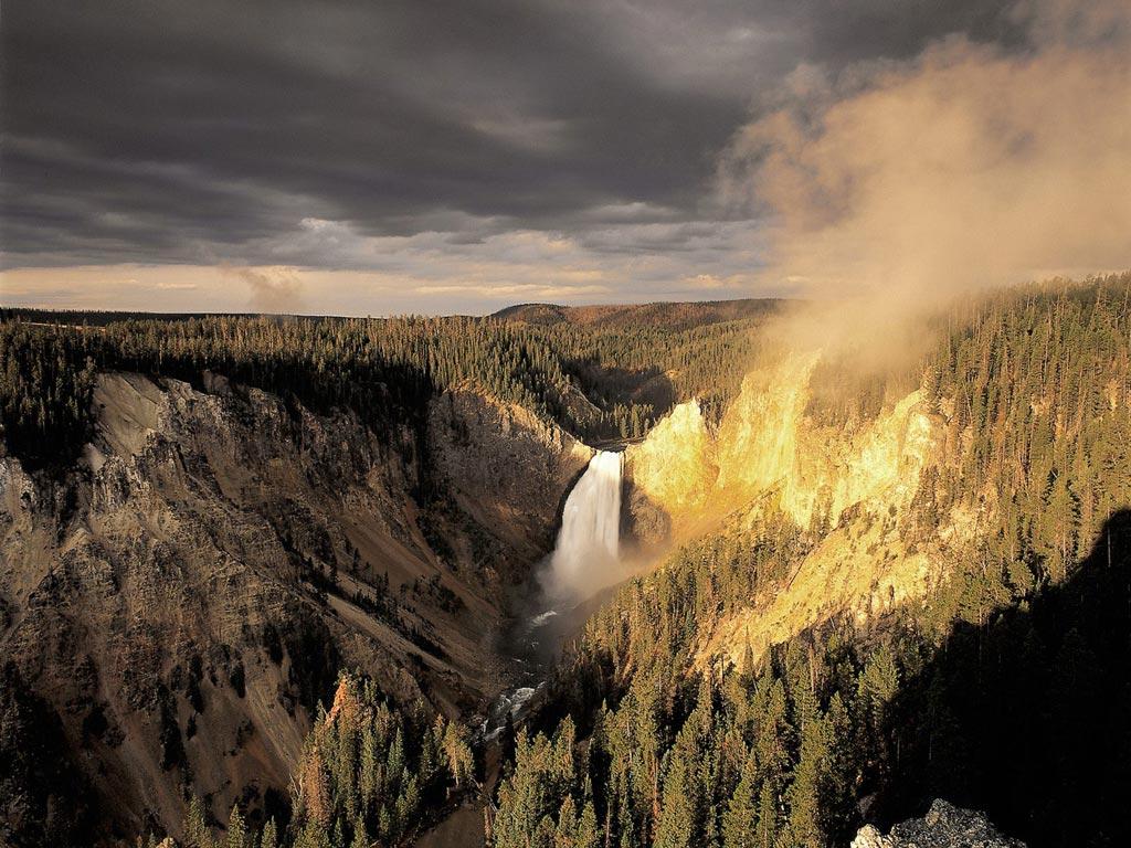 美国黄石国家公园-谷歌地图观察