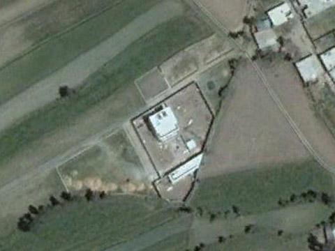 本拉登藏身地点的卫星地图