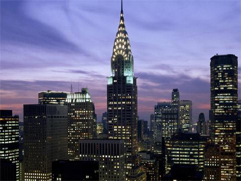 美国克莱斯勒大厦高清图片