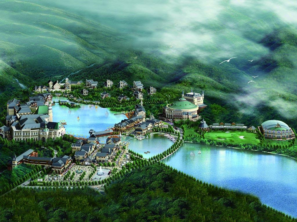 深圳东部华侨城-谷歌地图观察
