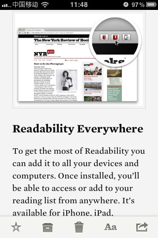 Readability:网页阅读优化