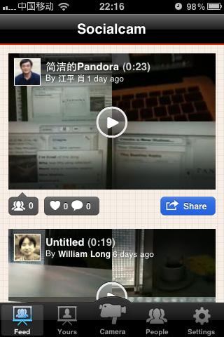 Socialcam:社交视频分享