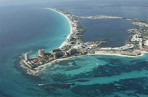 墨西哥坎昆岛的坎昆角