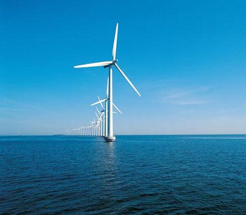丹麦米德尔格伦登海上风车园