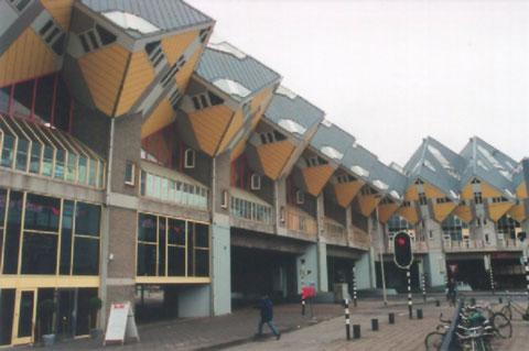 荷兰鹿特丹立体方块屋