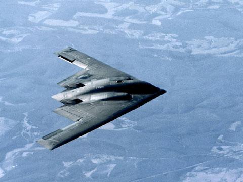 美国B2隐形轰炸机