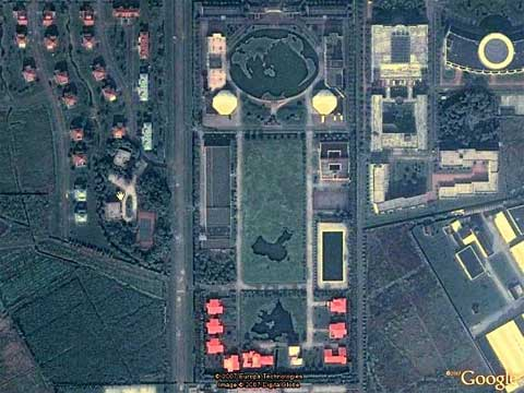 Google Earth上的中国花园
