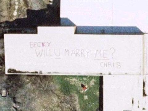 Google Earth见证的求婚:你会嫁给我吗?