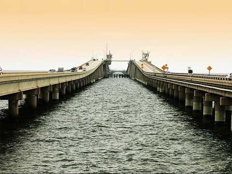 路易斯安那的庞恰特雷恩湖桥