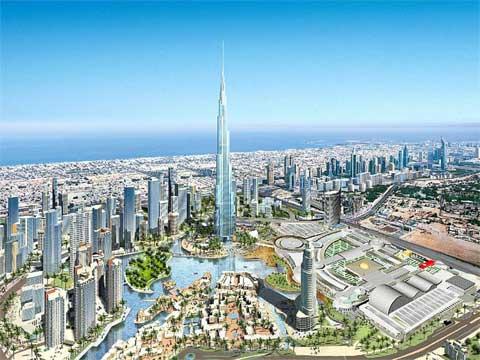 阿联酋迪拜塔成为世界第一高楼