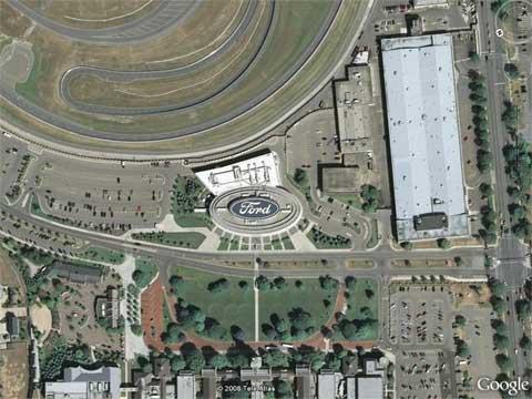 Google Earth上的福特汽车广告