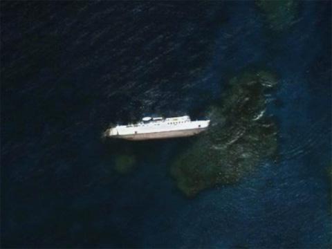 海上失事的船