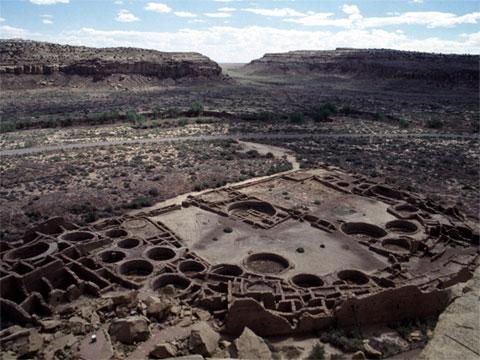 新墨西哥州查科峡谷卡萨林克纳达神庙