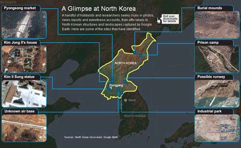 美国网民用Google Earth揭秘朝鲜军事秘密