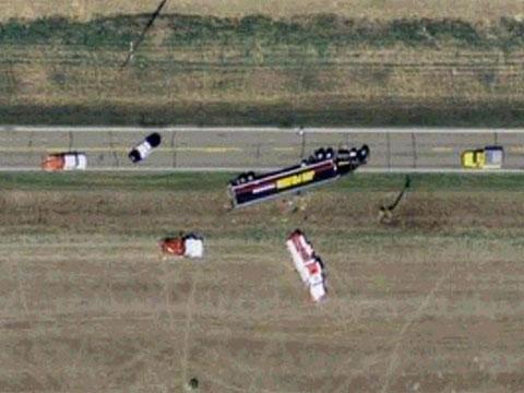 美国北达科他州府的车祸