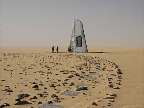 尼日尔的沙漠中空难纪念碑
