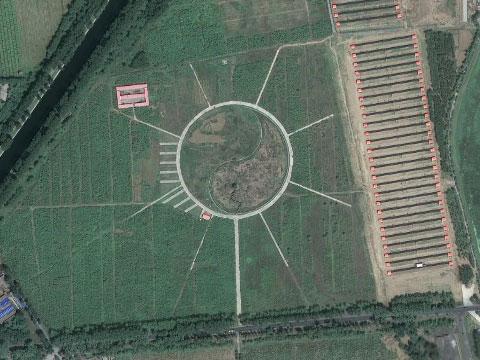 中国阴阳图案