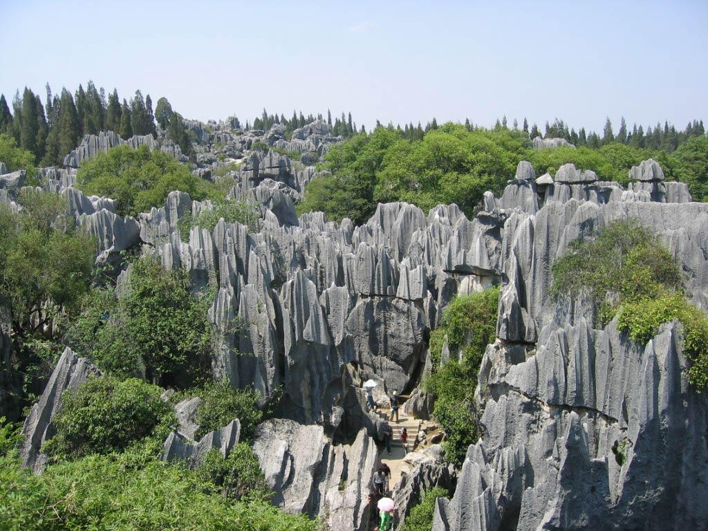 昆明石林-谷歌地图观察