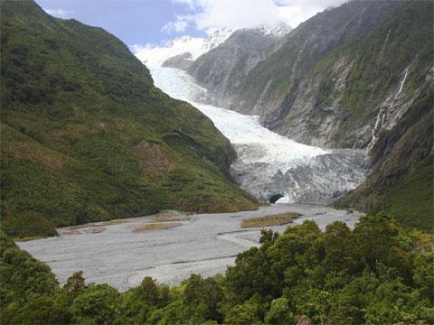 新西兰西部弗兰兹约瑟夫冰河