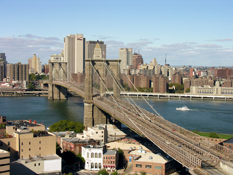 美国纽约:布鲁克林大桥