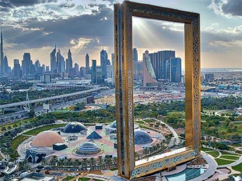 阿联酋迪拜之框金相框