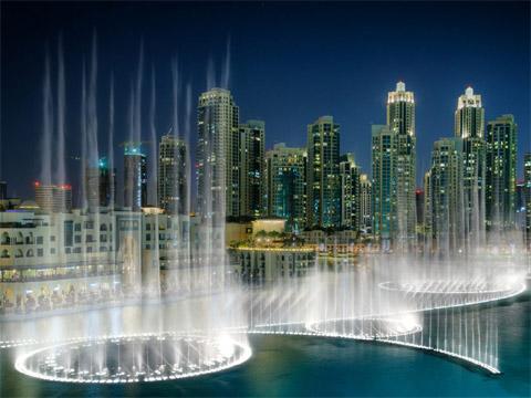 阿联酋迪拜音乐喷泉