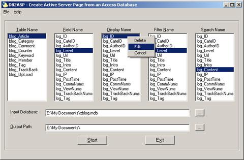 DB2ASP数据库ASP页面生成工具