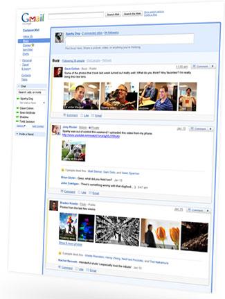Google发布Gmail微博客Google Buzz