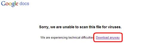 从Google Docs下载任意格式文档的方法