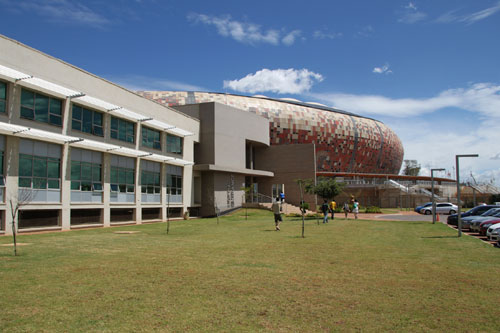 约翰内斯堡的足球城体育场