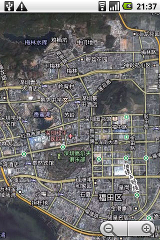 智能手机上的谷歌地图