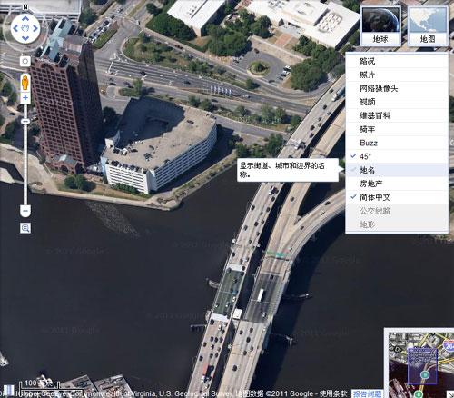 谷歌地图新图层界面