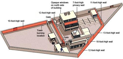 美军公布的拉登所藏身豪宅结构图