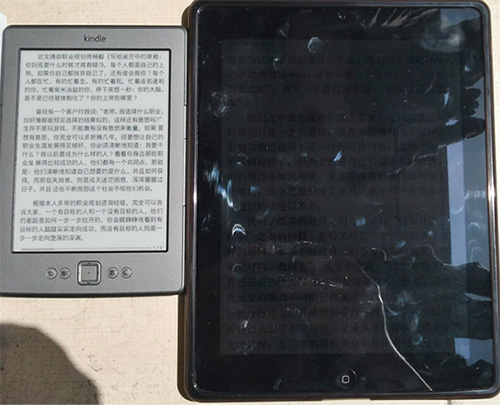 The New iPad vs Kindle Touch
