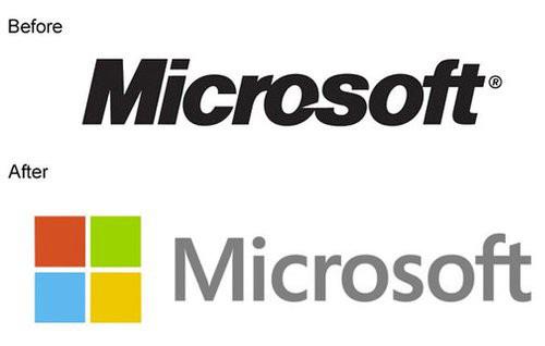 微绵软更换新Logo