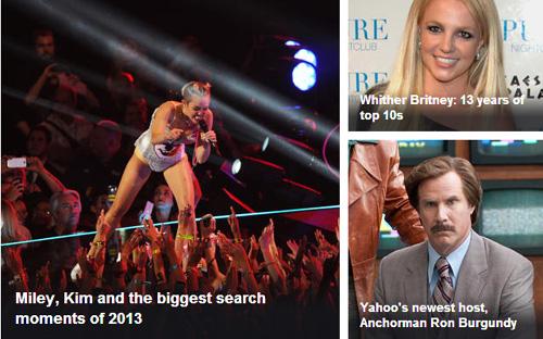 雅虎公布2013年度搜索排行榜