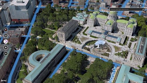 微软推出必应3D卫星地图应用
