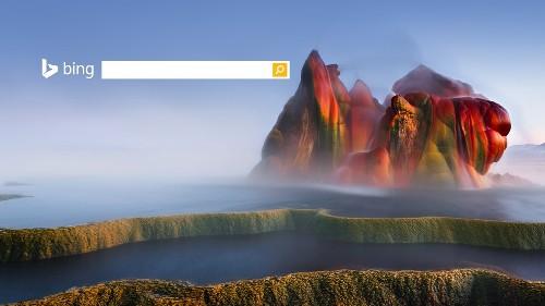 美国内华达州飞翔间歇泉附近的黑岩沙漠