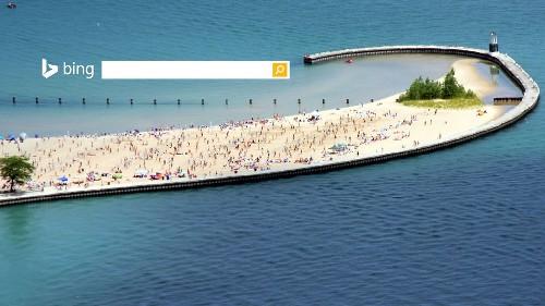 美国芝加哥密歇根湖畔的北方大道海滩