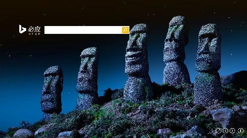 复活节岛的石像