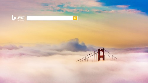 云中隐现的金门大桥
