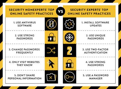 比较专家与非专家如何安全上网