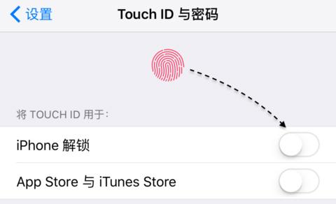 iPhone指纹解锁功能设置