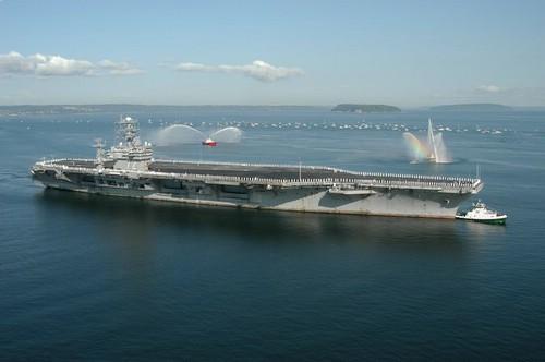 earth曝光美国航空母舰
