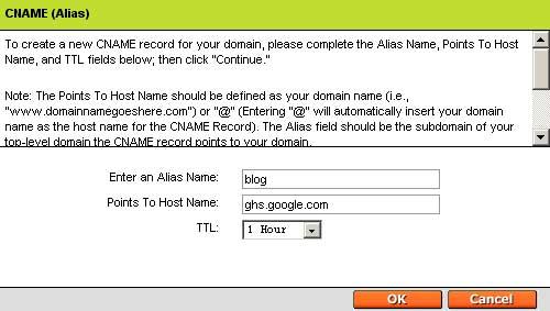 设置DNS记录