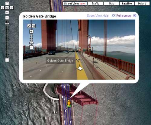 谷歌地图支持街景地图